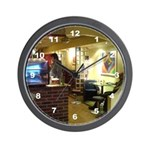 Coffee Bar at Dusk Wall Clock