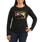 Coffee Bar at Dusk Women's Long Sleeve Dark T-Shir