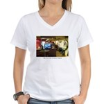 Coffee Bar at Dusk Women's V-Neck T-Shirt