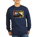 Coffee Bar at Dusk Long Sleeve Dark T-Shirt