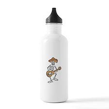 mariachi skeleton Water Bottle
