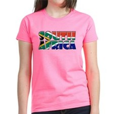 Word Art Flag South Africa Tee