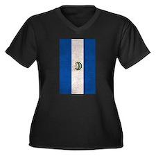El Salvador Flag Vintage / Distressed Plus Size T-