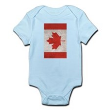 Canada Flag Vintage / Distressed Body Suit