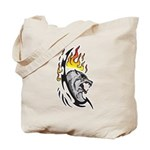 Flaming Wolf Tattoo Tote Bag