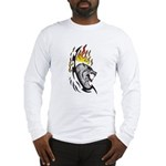 Flaming Wolf Tattoo Long Sleeve T-Shirt