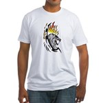 Flaming Wolf Tattoo Fitted T-Shirt