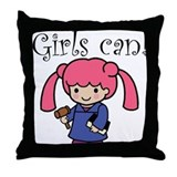 Girl Judge Throw Pillow