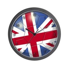 Great Britain Flag Soccer Ball Wall Clock
