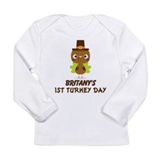 Personalized 1st Thanksgiving Turkey Long Sleeve T
