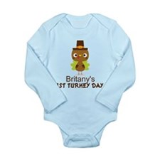 Personalized 1st Thanksgiving Turkey Body Suit