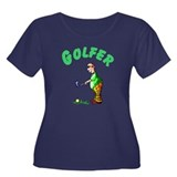 Golfer Women's Plus Size Scoop Neck Dark T-Shirt