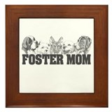 Foster Mom (dogs) Framed Tile