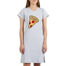 YOUR NAME Cute Pizza Women's Nightshirt