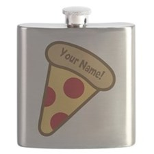 YOUR NAME Cute Pizza Flask
