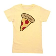 YOUR NAME Cute Pizza Girl's Tee