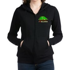I Love Billiards Women's Zip Hoodie