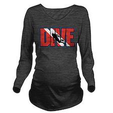 Diving Long Sleeve Maternity T-Shirt