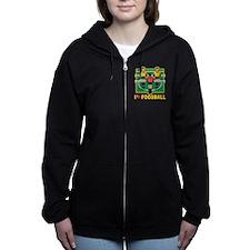 I Love Foosball Women's Zip Hoodie