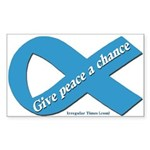 Peace Blue Ribbon Bumper Sticker