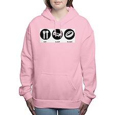 Eat Sleep Rugby Women's Hooded Sweatshirt