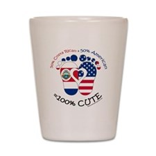 Costa Rican American Baby Shot Glass