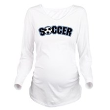 Soccer Long Sleeve Maternity T-Shirt