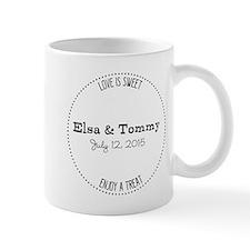 Personalized Wedding Favor Candy Mug Mugs
