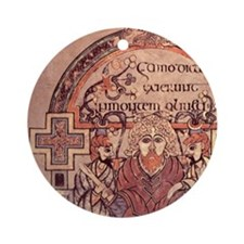 8th cent.Arrest of Christ. Gospel o Round Ornament