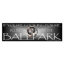 Baseball/Softball Bumper Bumper Sticker