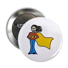 "Cute Super girl 2.25"" Button (10 pack)"