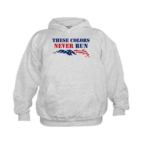 Colors Never Run Kids Hoodie