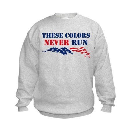 Colors Never Run Kids Sweatshirt