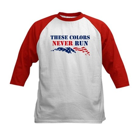 Colors Never Run Kids Baseball Jersey