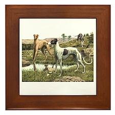 Greyhound Art Framed Tile
