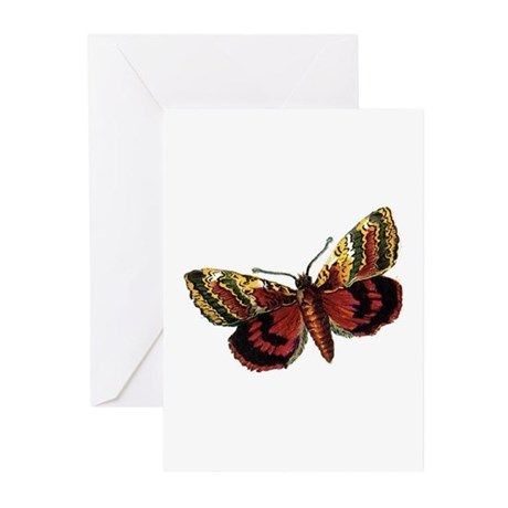 Victorian Butterfly 1 Greeting Cards (Pk of 10