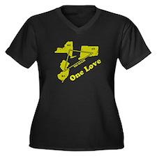 NY, NJ & CT - One Love Women's Plus Size V-Neck Da