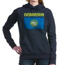 Nebraska Flag Women's Hooded Sweatshirt