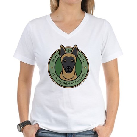 Love My Malinois Women's V-Neck T-Shirt