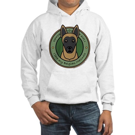 Love My Malinois Hooded Sweatshirt