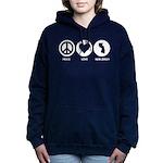 Peace Love New Jersey Women's Hooded Sweatshirt