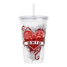 Heart Ohio Acrylic Double-wall Tumbler