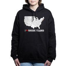I Love Rhode Island Women's Hooded Sweatshirt