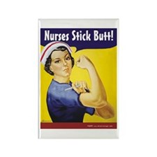 Nurses stick butt! Rectangle Magnet
