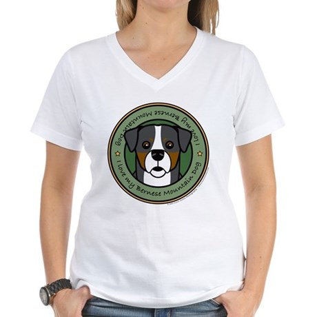 Love My Berner Women's V-Neck T-Shirt