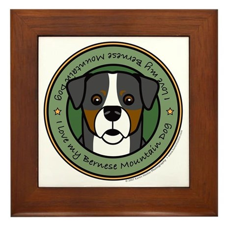 Love My Berner Framed Tile