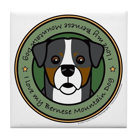 Love My Berner Tile Coaster