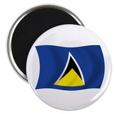 "Saint Lucia Flag 2.25"" Magnet (100 pack)"