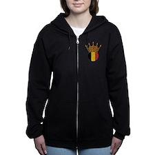 King Of Belgium Women's Zip Hoodie