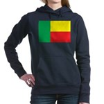 Benin Flag Women's Hooded Sweatshirt